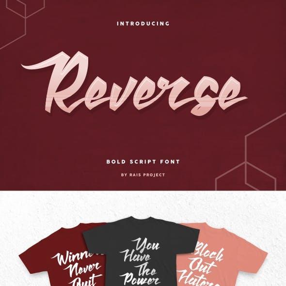 Reverse Font