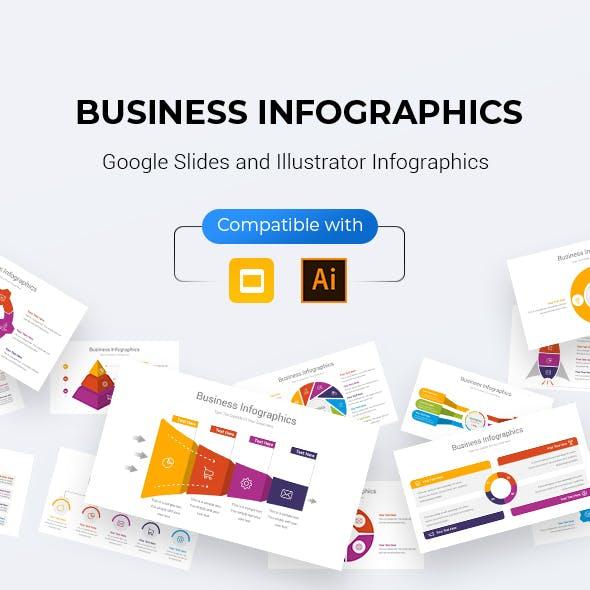 Business Infographics Google Slides & Illustrator Template