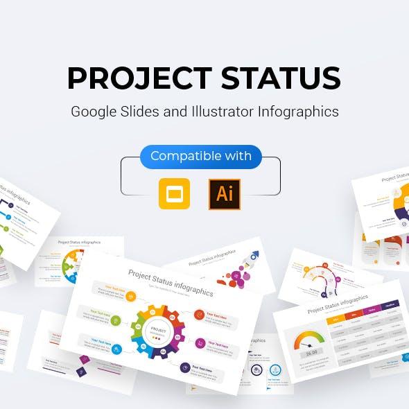 Project Status infographics Google Slides & Illustrator Template