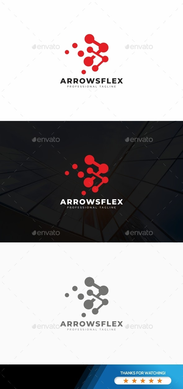 Arrows Movi Logo - Symbols Logo Templates