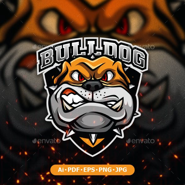 Bulldog Logo Mascot for esport and sport