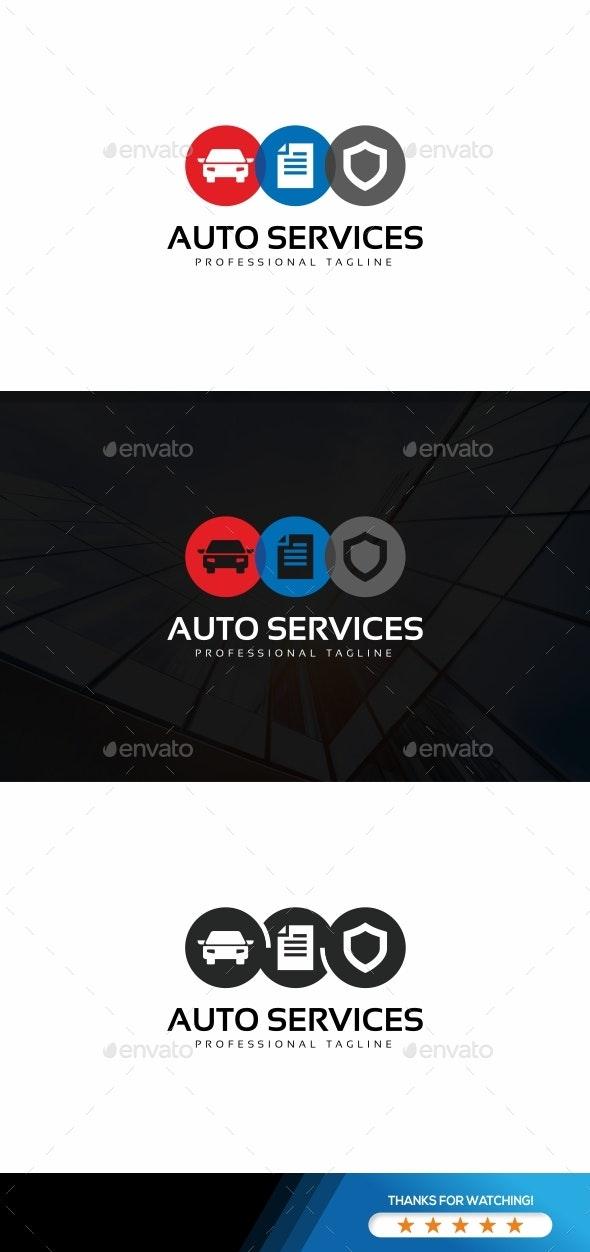 Auto Services Logo - Objects Logo Templates
