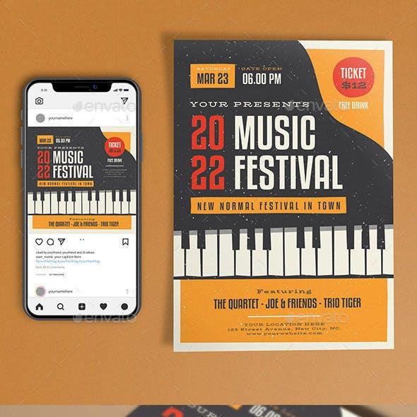 Music Festival Piano Template Set