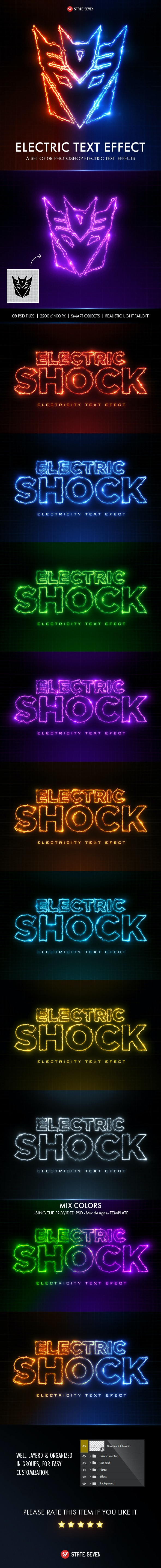 Electric Text Effect - Text Effects Styles