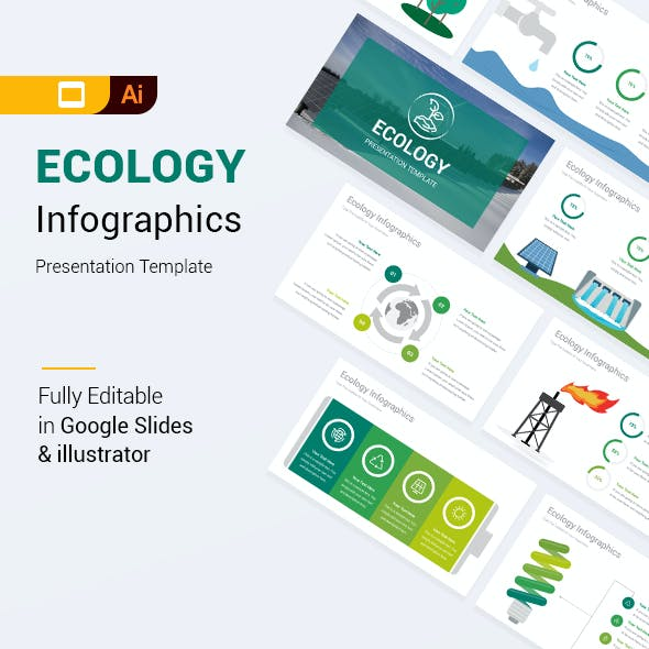 Ecology Infographics Google Slides & Illustrator Presentation