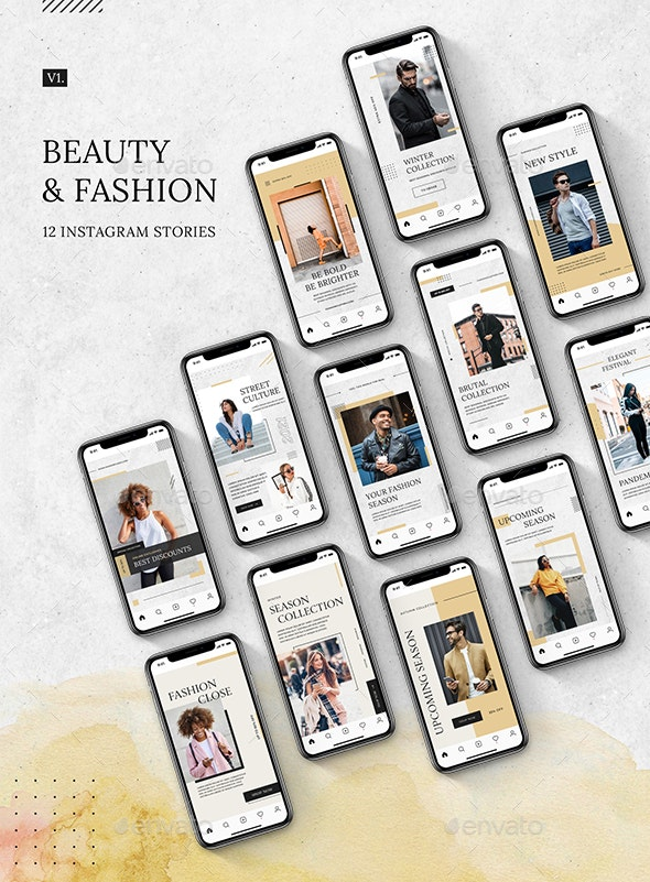 Beauty & Fashion Instagram Stories v.1 - Miscellaneous Web Elements
