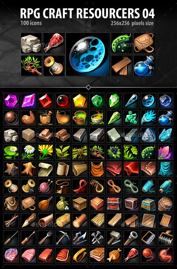 RPG Craft Resources 04 - Miscellaneous Game Assets