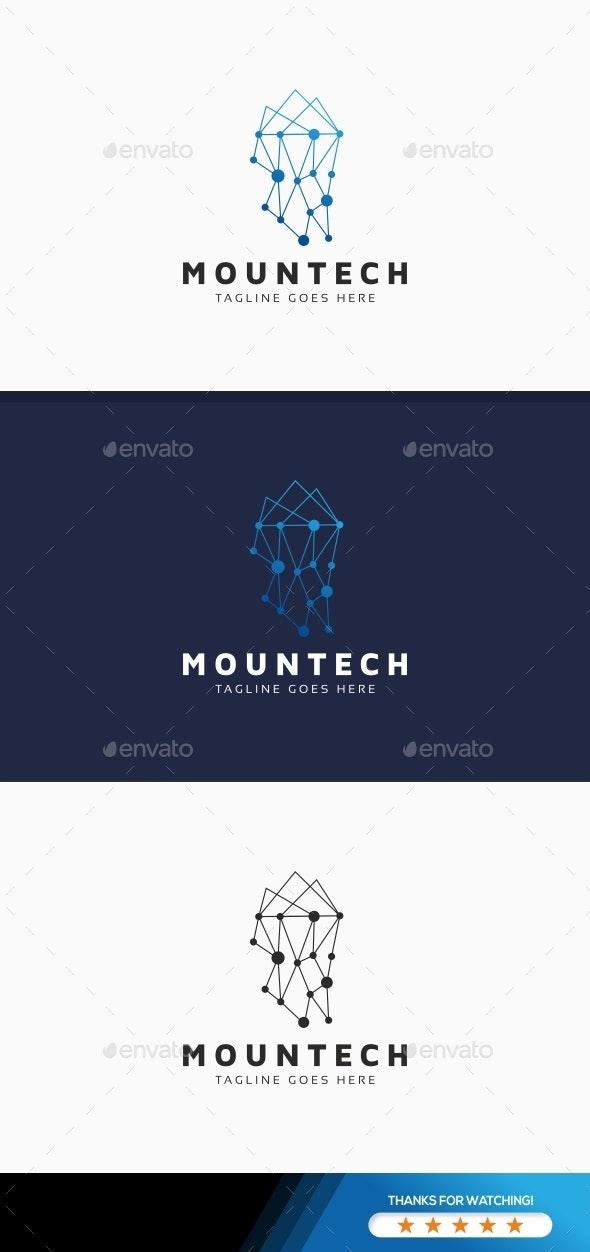 Mountain Tech Logo - Nature Logo Templates