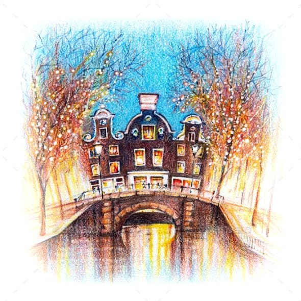 Christmas Amsterdam Canal