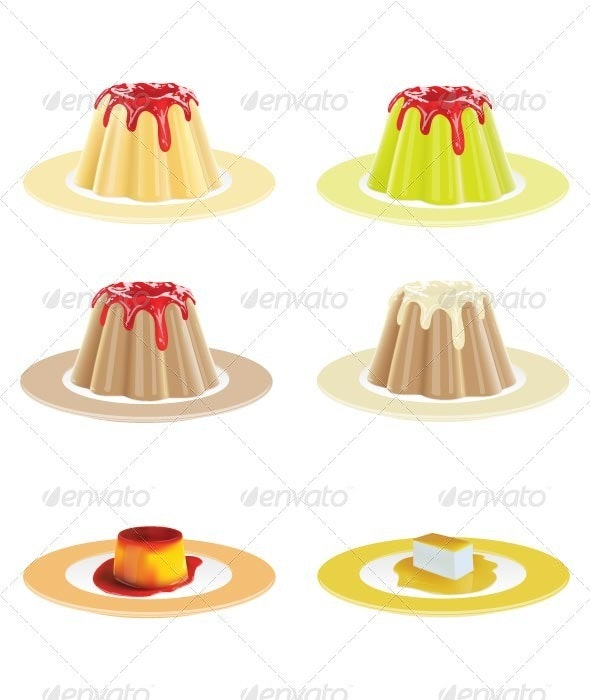 Puddings - Food Objects