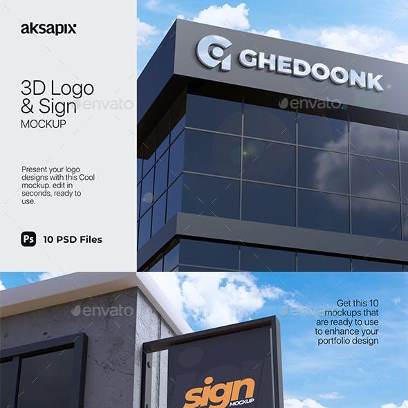 3D Logo & Sign Mockup