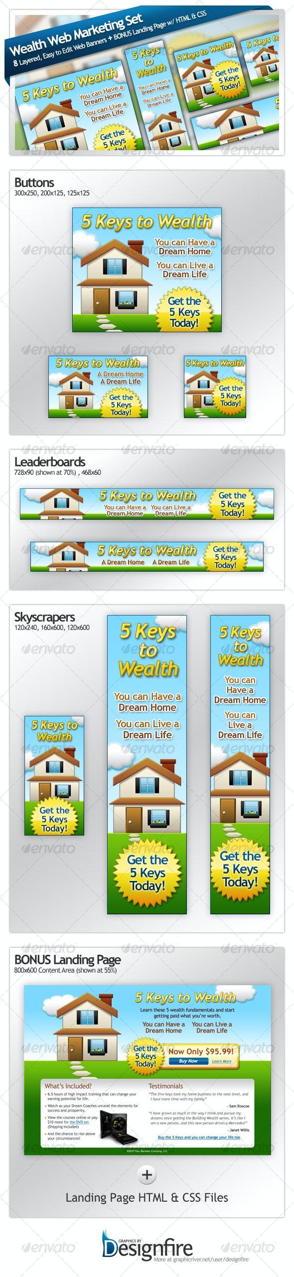 Wealth Web Marketing Set - Web Elements
