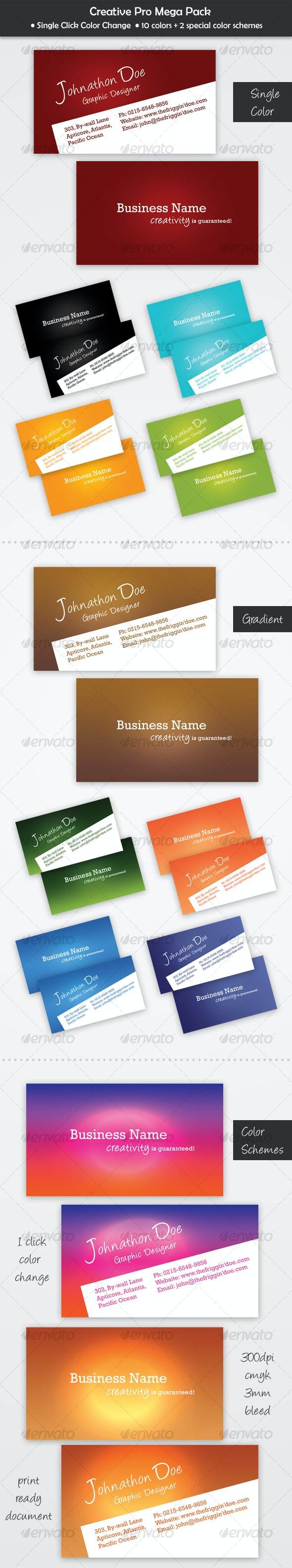 Creative Pro Mega Pack - Creative Business Cards