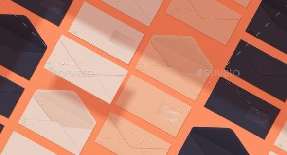 Realistic Envelope Pattern - Backgrounds Decorative