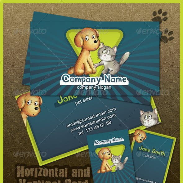 Pets Care Business Card