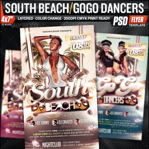 South Beach / GoGo Dancers Flyer Template!