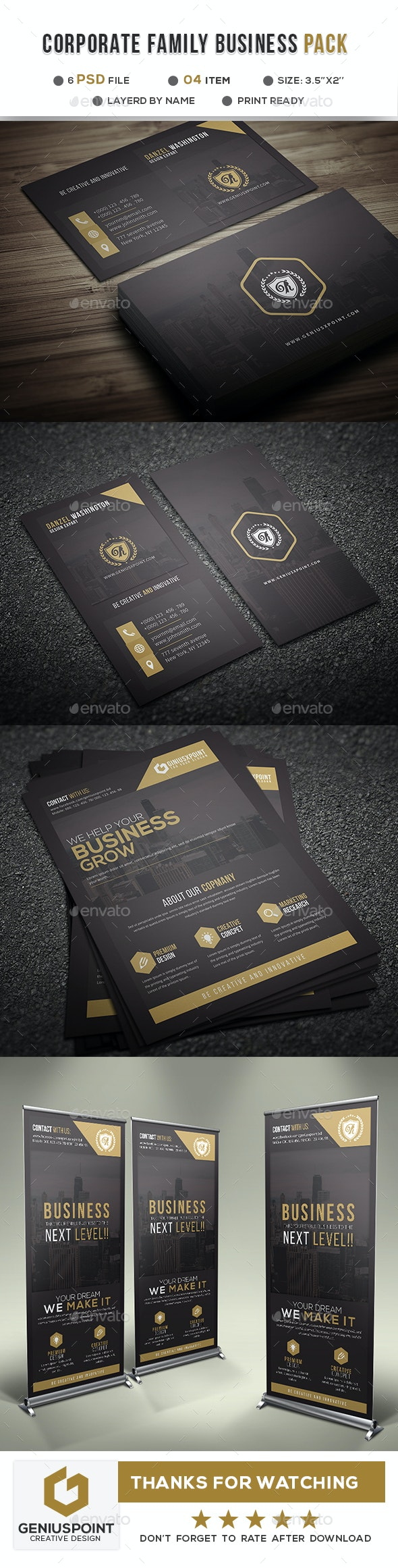 Corporate Family Bundle Vol: 03 - Business Cards Print Templates