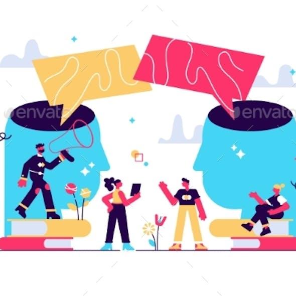 Vector Illustration Social Communication