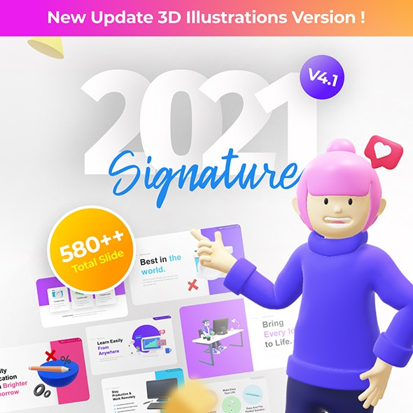 2020 Signature Multipurpose Premium PowerPoint Presentation Template Fully Animated - Business PowerPoint Templates