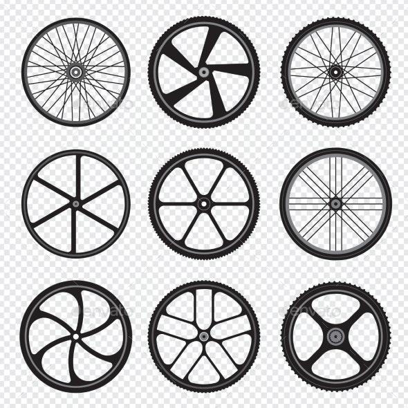 Bike Wheels - Man-made Objects Objects