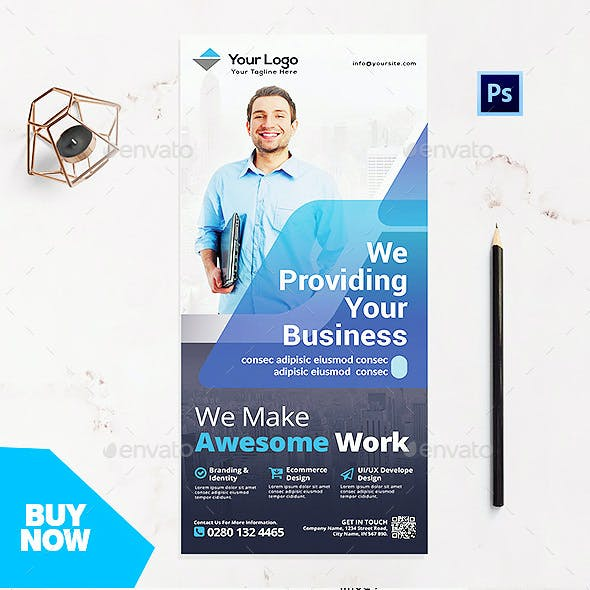 Rack Card Template - Corporate Business Flyer