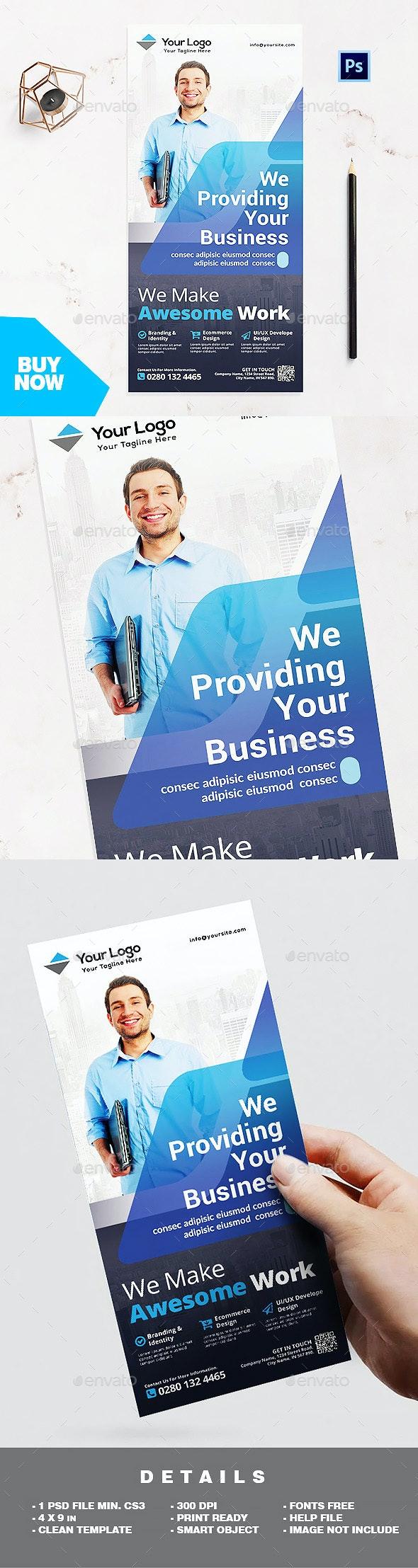 Rack Card Template - Corporate Business Flyer - Corporate Flyers