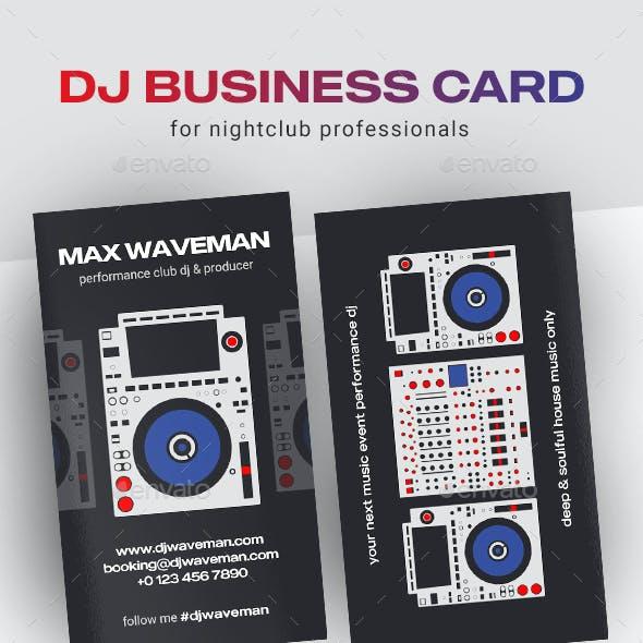 Digital DJ Business Card Template