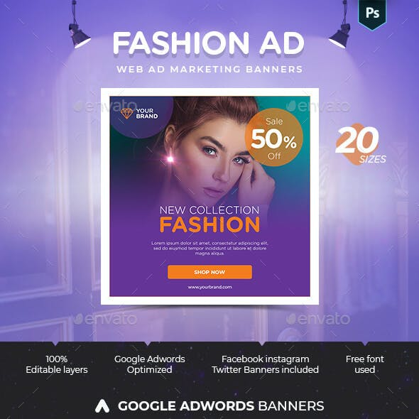 Fashion Web Ad Marketing Banners