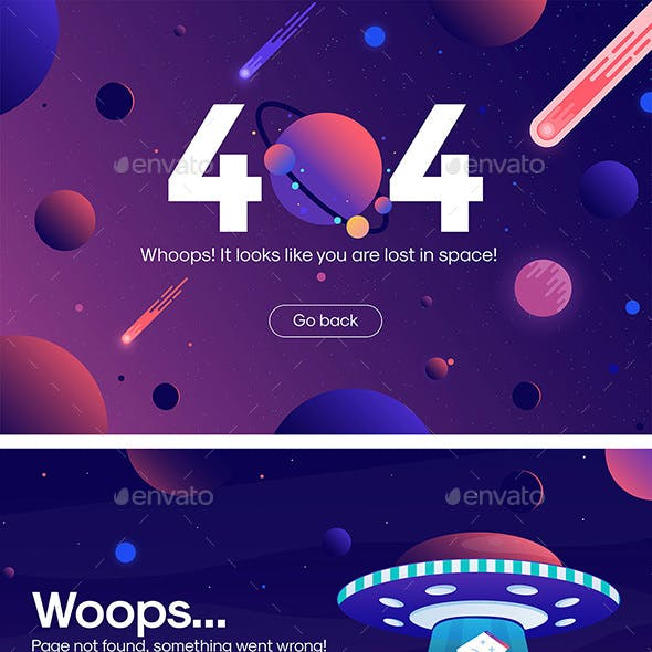 The concept of 404 error web page