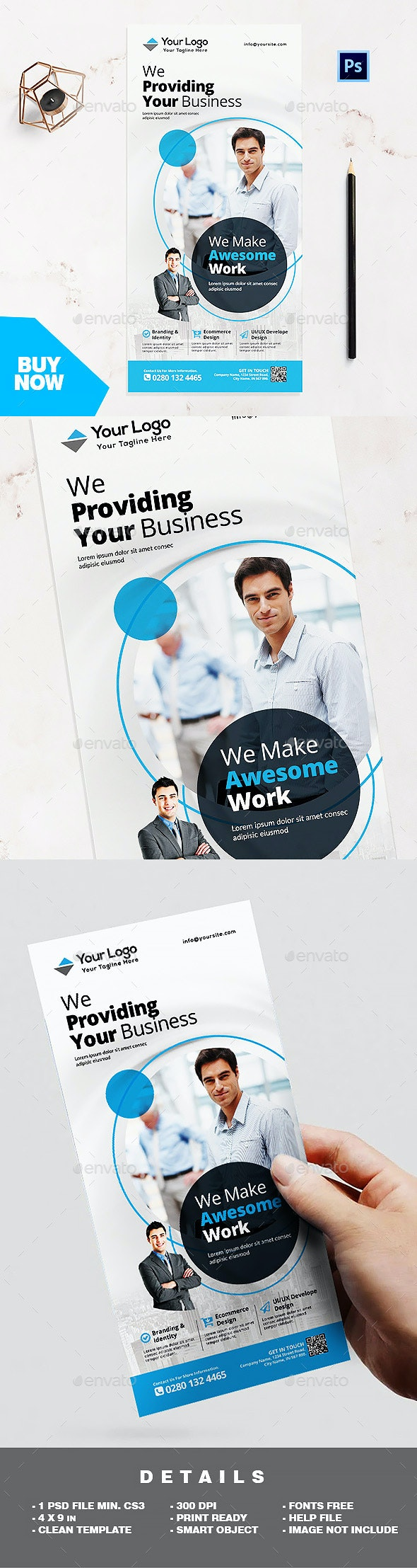 Rack Card Template - Corporate Business Flyer - Corporate Flyers