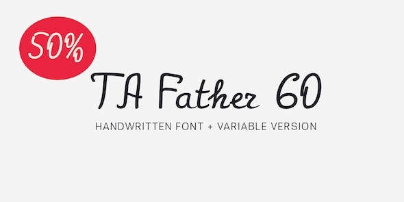 TA Father 60 - Script Fonts
