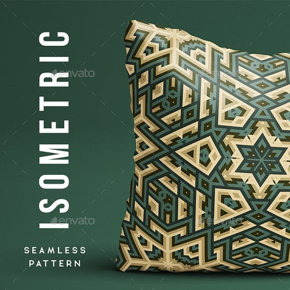 Isometric Abstract Seamless Pattern - Background