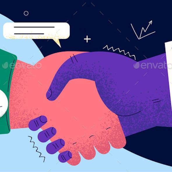 Handshake Deal Business Agreement Concept