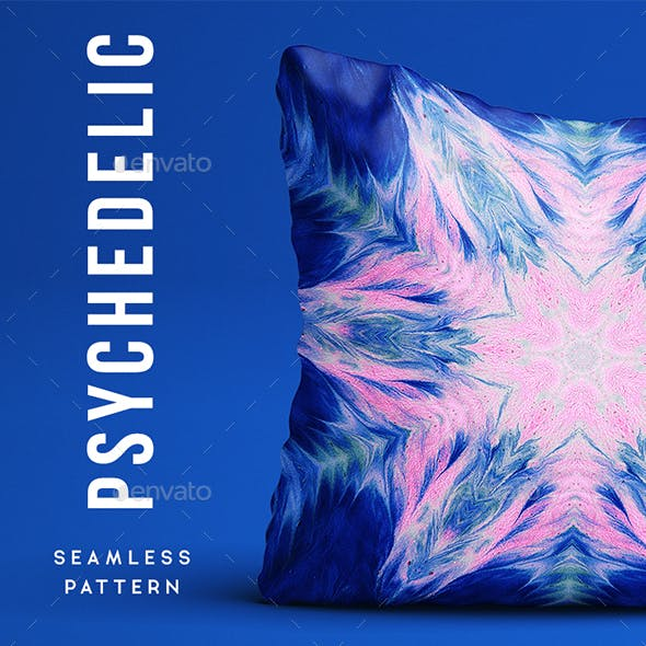 Psychedelic Seamless Pattern - Background