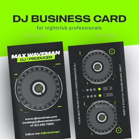 Club DJ Business Card Template