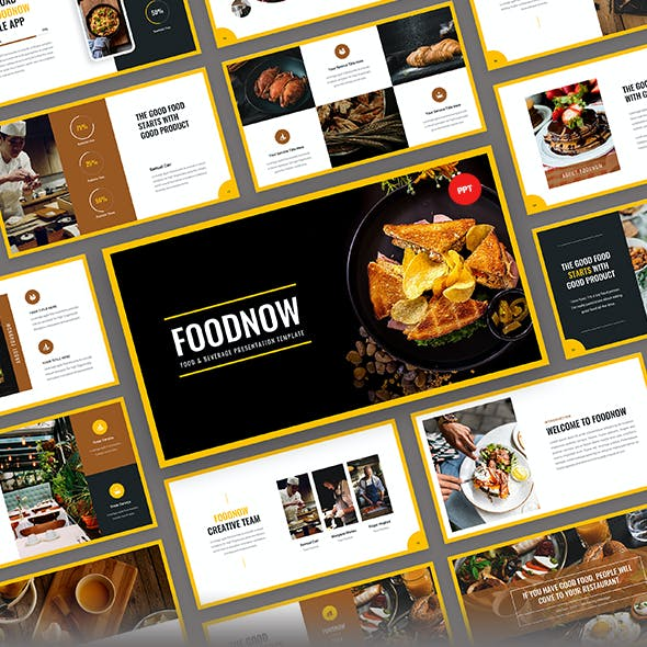 Foodnow - Food PowerPoint Presentation Template