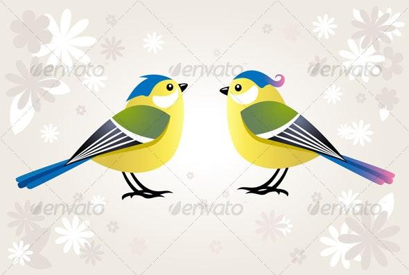 Cute Cartoon Bird By Silvertiger Graphicriver