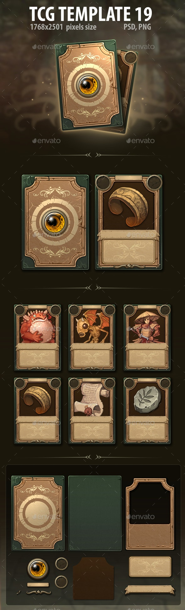 TCG Template 19 - Miscellaneous Game Assets