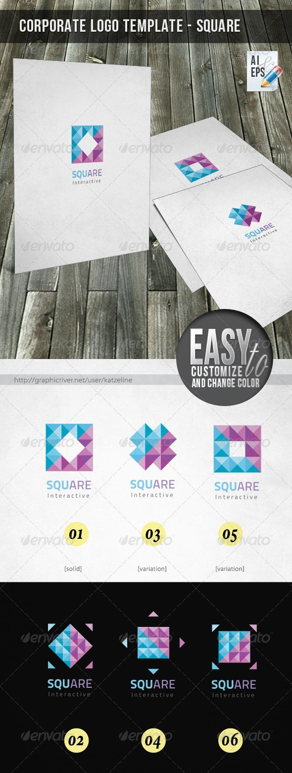 Corporate Logo - Square Interactive - Vector Abstract