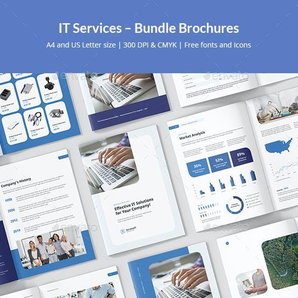 IT Services – Bundle Brochures Print Templates 8 in 1
