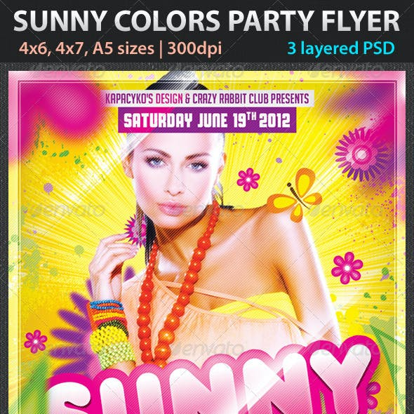 Sunny Colors Party Flyer