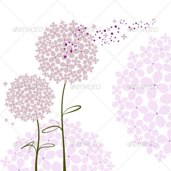Purple Hydrangea Flower - Backgrounds Decorative
