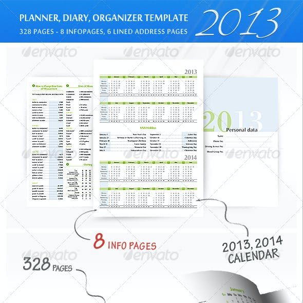 Planner-Diary-Organizer 2013