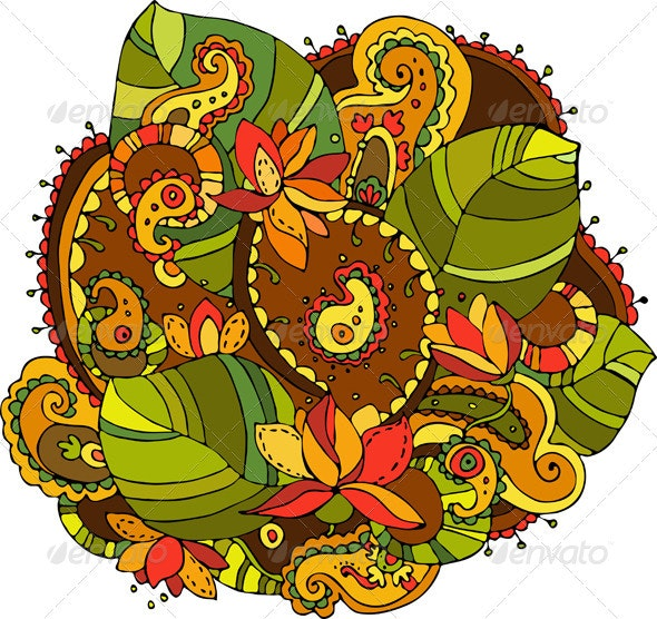Abstract Flower Element Isolated - Decorative Vectors
