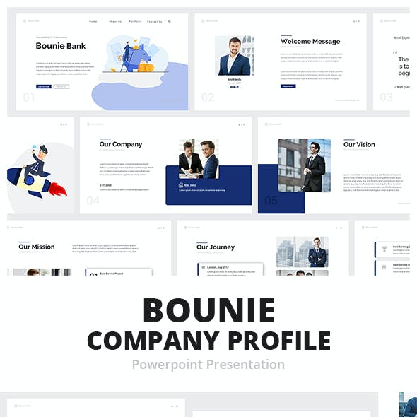 Bounie Company Profile Powerpoint Template