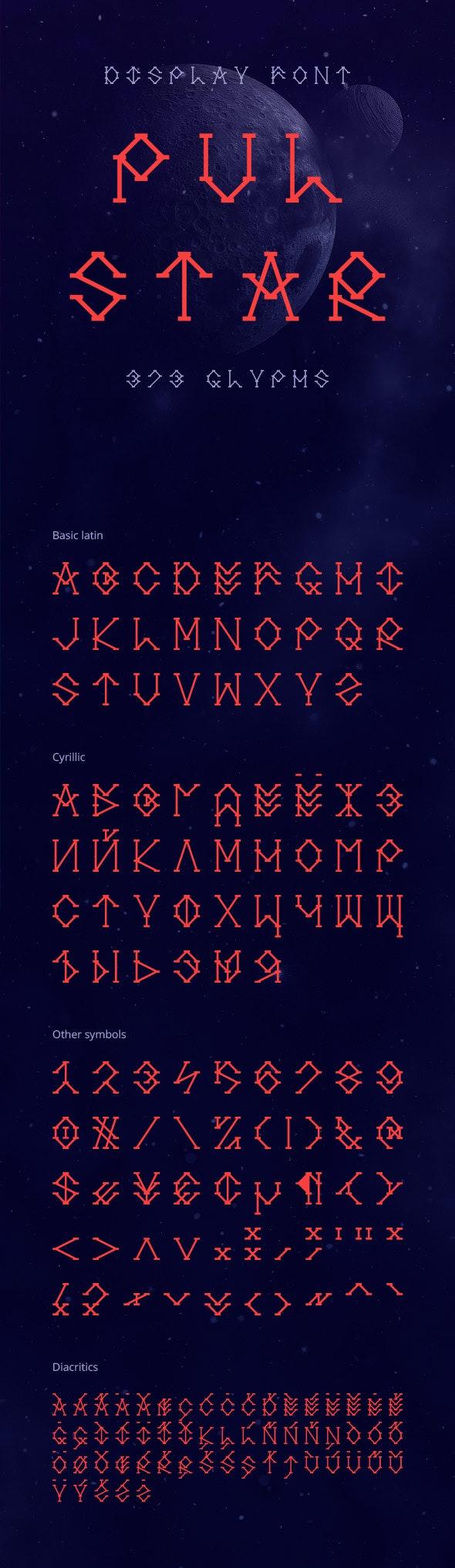 Pulstar Font - Decorative Fonts