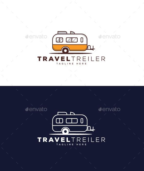Travel Trailer Logo - Objects Logo Templates