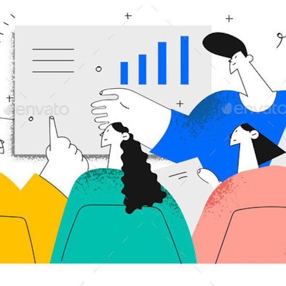 Brainstorm Negotiations Meeting in Office