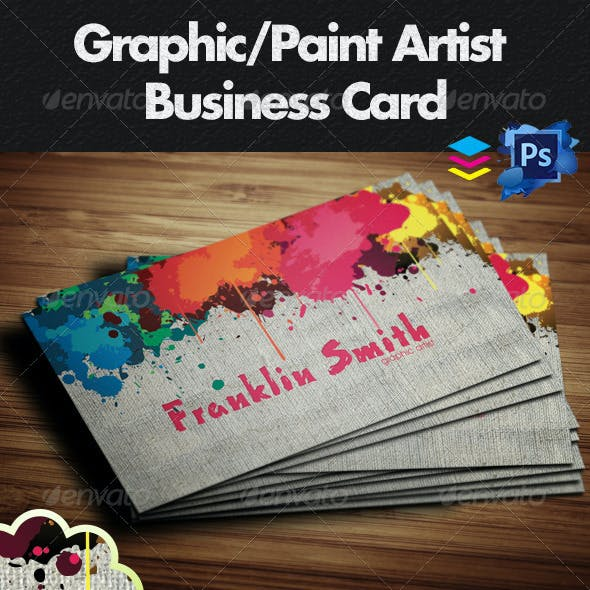 Graphic / Paint Artist Business Card