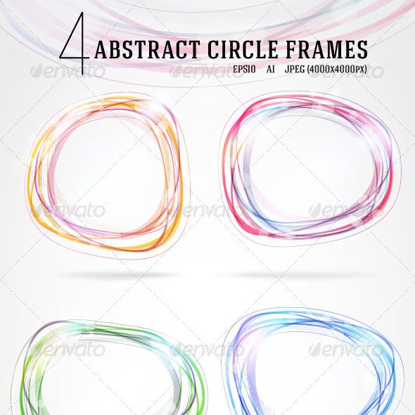 4 Abstract circle frames